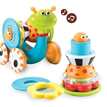 Yookidoo Musical Crawl N' Go Snail Toy with Stacker - Promotes Baby's  Crawling and Walking  Rolls and Spins Its Shell As It Moves