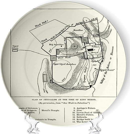 king herod\'s temple diagram amazon com c coaballa plan of jerusalem at the tine of king herod  jerusalem at the tine of king herod