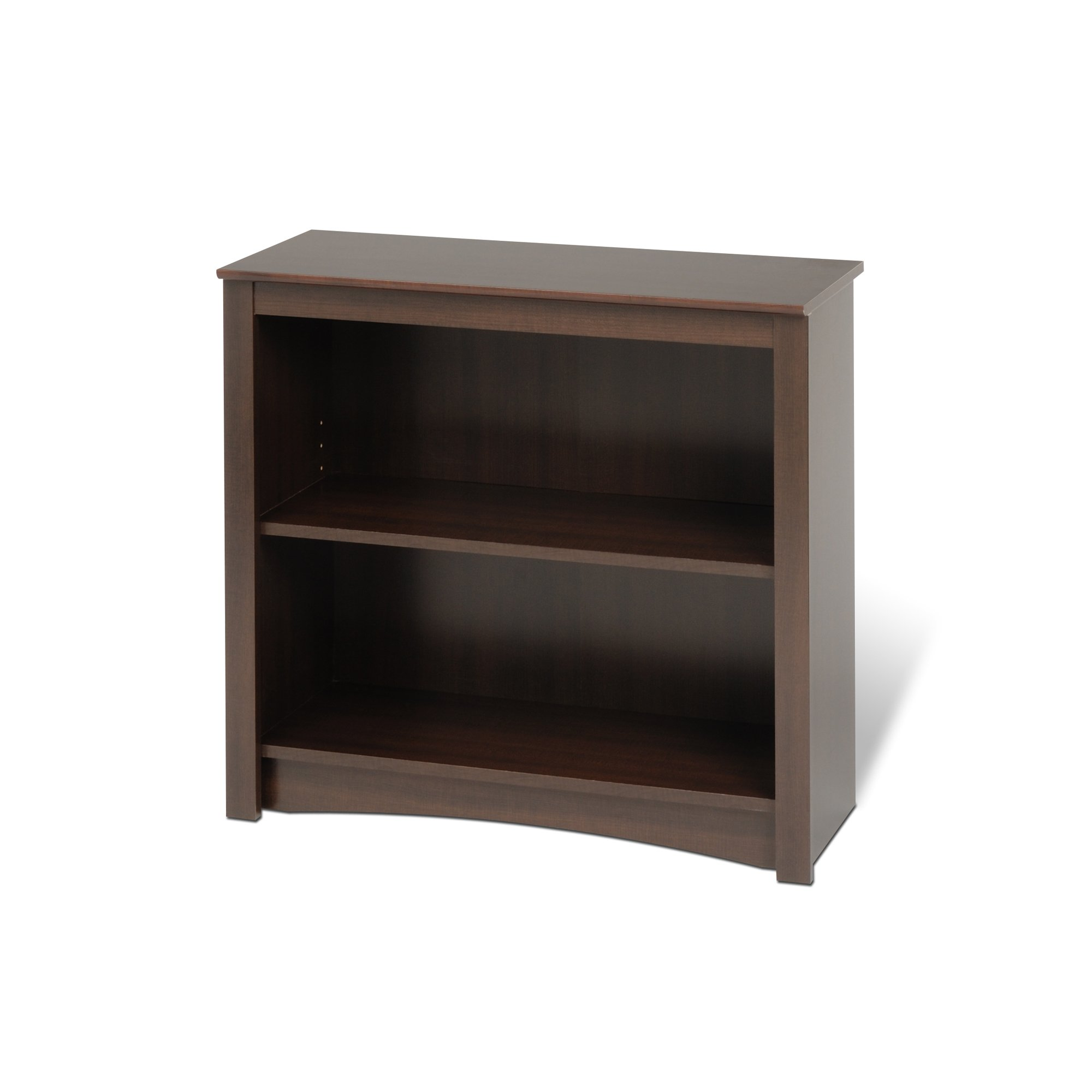 Espresso 2-shelf Bookcase