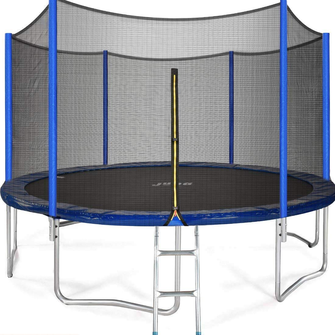 JUPA Kids Trampoline 15FT, TÜV Certificated Outdoor Trampoline with Enclosure Net Jumping Mat Safety Pad, Heavy Duty Round Trampoline for Backyard by JUPA (Image #1)