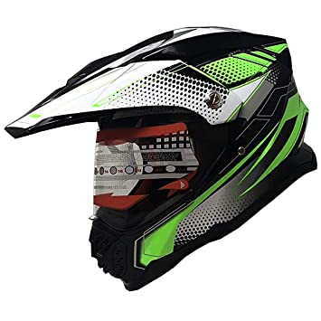 Amazon Com Dual Sport Full Face Motorcycle Helmets Dot Approved Atv