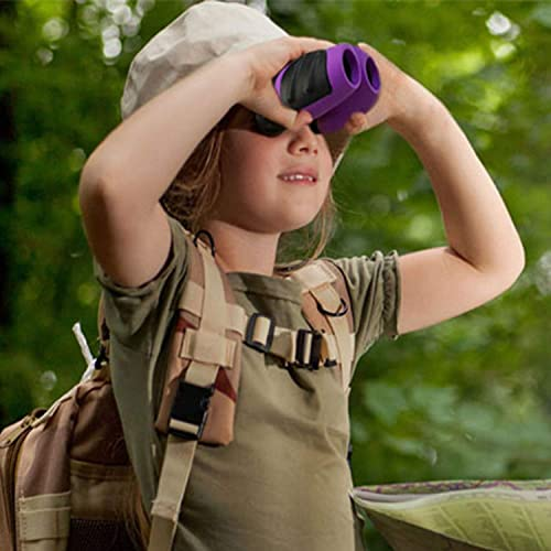JRD BS WINL 3-8 Year Old Girl, Compact Binoculars for Kids Yard Toys, Best Gift for 4-10 Year Girls to Watching Birds, Telescope Boys Gifts 10 Years Old to Wildife Purple