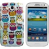 kwmobile Funda Hardcase Diseño familia de búho para Samsung Galaxy S3 / S3 Neo en multicolor rosa fucsia menta