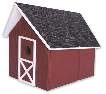 Amazon.com: Casa de pájaros de madera fácil de limpiar ...