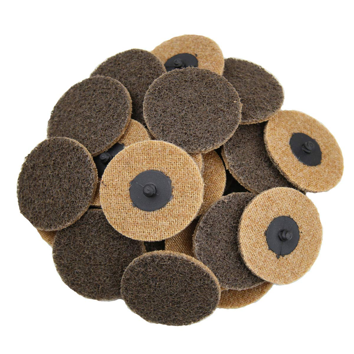 COSPOF 3 Inch Surface Conditioning Disc,Quick Change Sanding Disc,Works with Air and Electric Sander,Features Better Surface Quality and Heat Dissipation -25 Pack (Brown-Coarse). by COSPOF