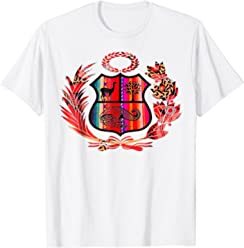 Peru Shirt Peruvian Escudo Coat of Arms Men Women