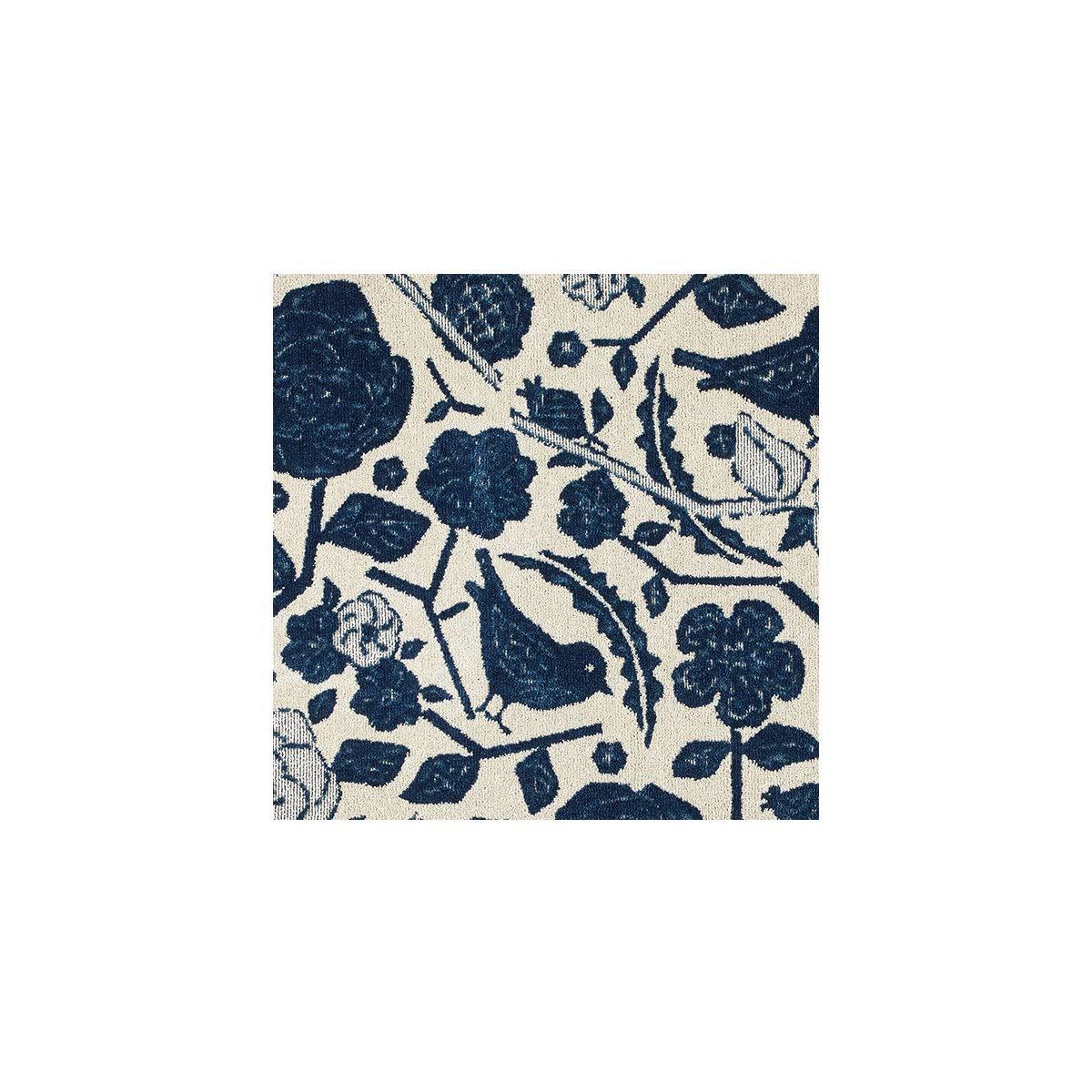 ブルー/【185cm×240cm】 ラグ ラグマット 絨毯 カーペット 長方形 ホットカーペット 床暖 防ダニ 滑り止め オールシーズン 花 北欧風 日本製 おしゃれ かわいい  ブルー B07M8LW35Q