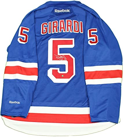 6f649e9f0c8 Image Unavailable. Image not available for. Color: Dan Girardi Signed New  York Rangers Blue Premier Jersey ...