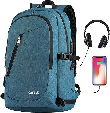 Anti-theft Men Laptop Notebook Computer Backpack Travel School Bag w// USB Port