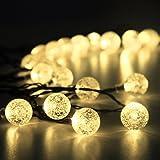 Innoo Tech Guirlande lumineuse solaire, 30 LED boules, Longueur 4.5M, Eclairage solaires ( Blanc chaud )