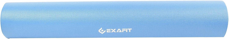Grey EXAFIT Yoga Mat for Men and Women Lightweight Non-Slip Exercise Mat 4mm