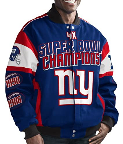 1d7db8dfe72 Image Unavailable. Image not available for. Color  New York Giants NFL  G-III Super Bowl Cotton Twill Commemorative Jacket