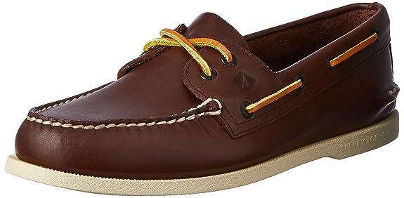 Sperry A/O 2-Eye Amaretto 195115 - Mocasines de Cuero para Hombre, Color marrón, Talla 47: Amazon.es: Zapatos y complementos