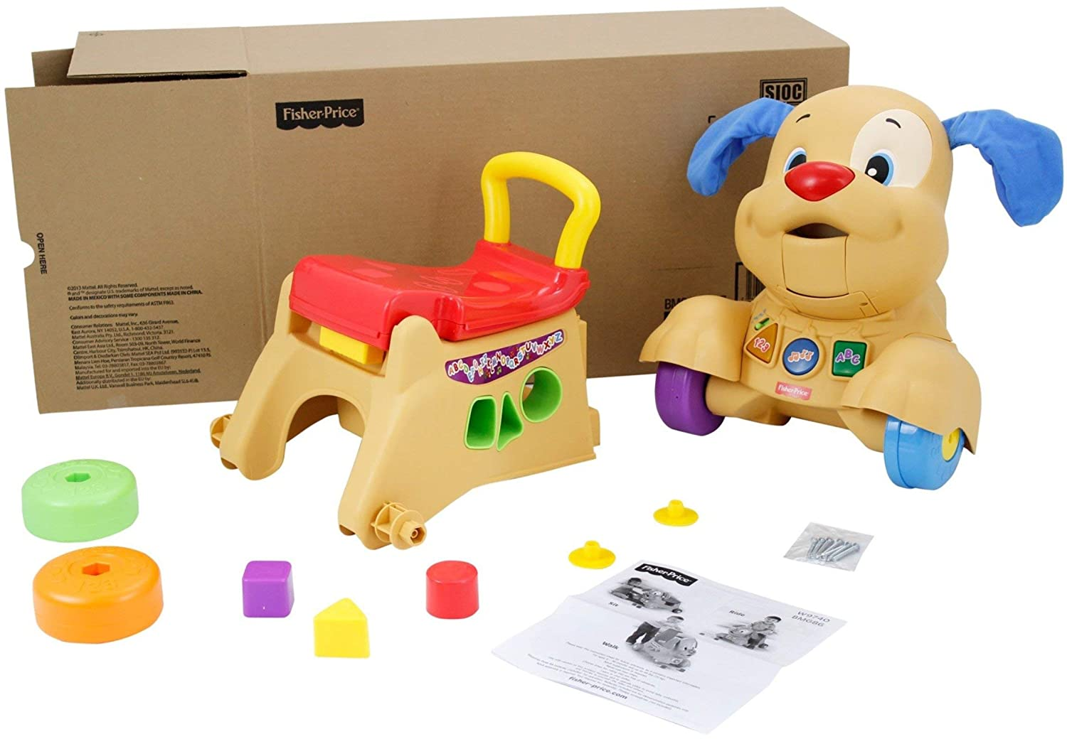 Amazon.com: Fisher-Price Laugh & Learn Stride-to-Ride Puppy ...