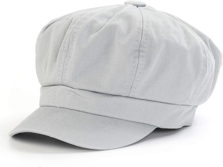 Summer Newsboy Cap Women 100% Cotton Plain Blank 8 Panel Gatsby Apple Cabbie Cap Hat