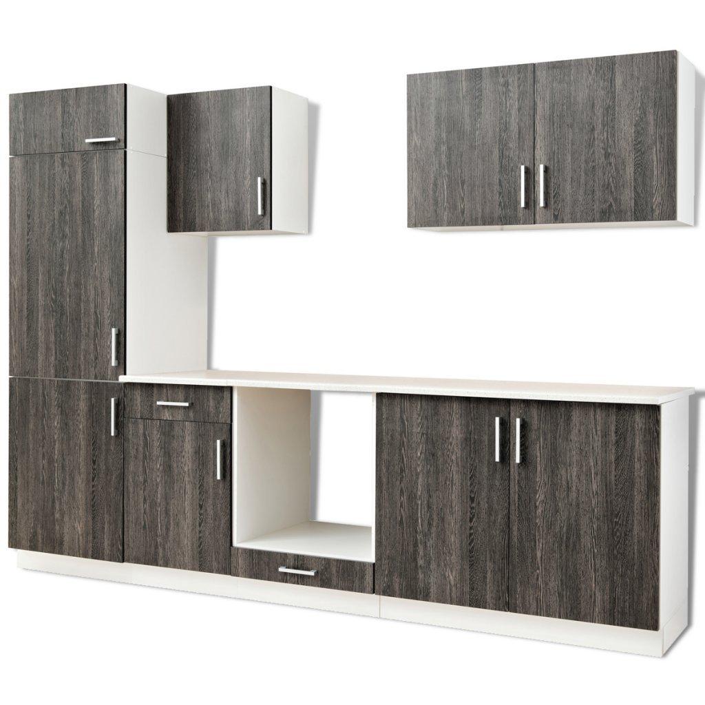 vidaXL Küchenzeile Einbauküche Küche Küchenblock Küchenschrank Set ...