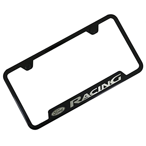 Amazon.com: Ford Racing Black Stainless Steel License Plate Frame ...
