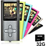 Goldenseller Mp3 / mp4 Player / with 32GB Micro SD Card / Media Player / Portable Videos Player / Music Player / Voice Recording Player / Supporting MP3, WMA, JPEG and TXT files (Black?