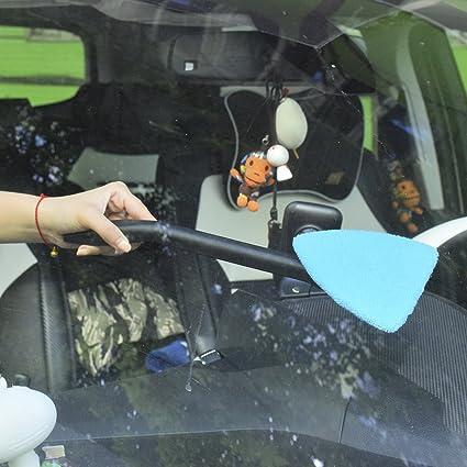 DEDC Auto Parabrezza Cleaner Parabrezza Pulitore Spazzola Antipolvere per Pulizia Auto in Microfibra con Manico Lungo