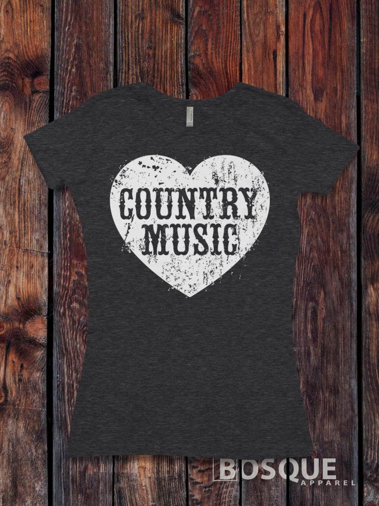 Love Country Music T-Shirt Vintage Southern Style V2 - Ink Printed