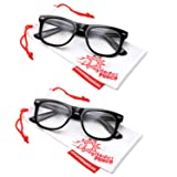 2 Pack High Magnification Reading Glasses Strong