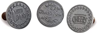 product image for Nordic Ware Greetings Cast Cookie Stamps, 3-inch rounds, Silver