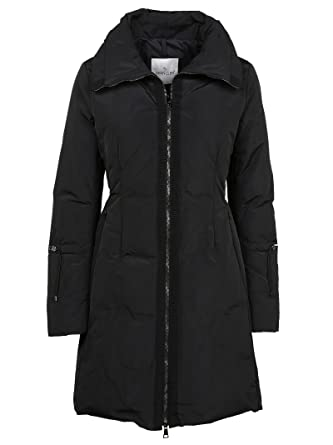 moncler women s 499820057455999 black polyester coat amazon co uk rh amazon co uk