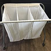Amazon Com Whitmor 3 Section Laundry Sorter Collapsible