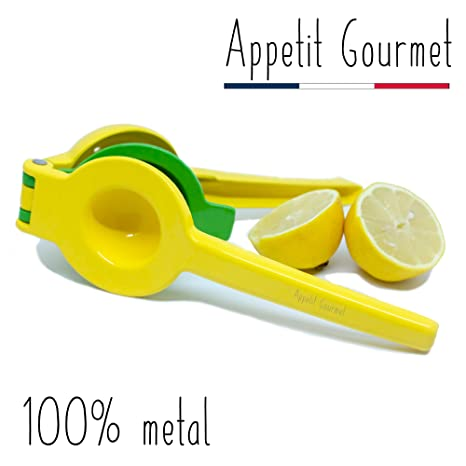 Appetit Gourmet Exprimidor de Limones Exprimidor Manual de Cítricos 2 en 1 Irrompible de Aluminio Utensilio