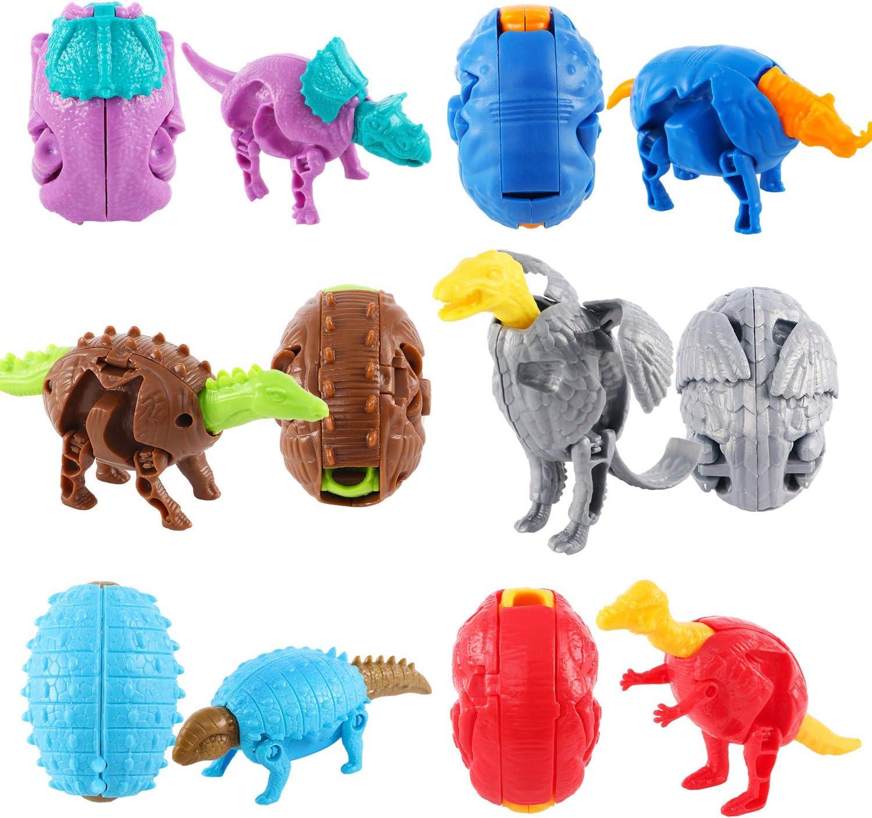 Casibecks 12 Pi/èces Dinosaure Jouet Dinosaure Oeufs De P/âques Article De F/ête D/écoration De F/ête Cadeau danniversaire pour Infant B/éb/é Gar/çon La Filles