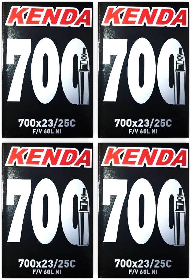 KENDA Presta - Tubos Interiores para Bicicleta (700 x 23/25c, 60 ...