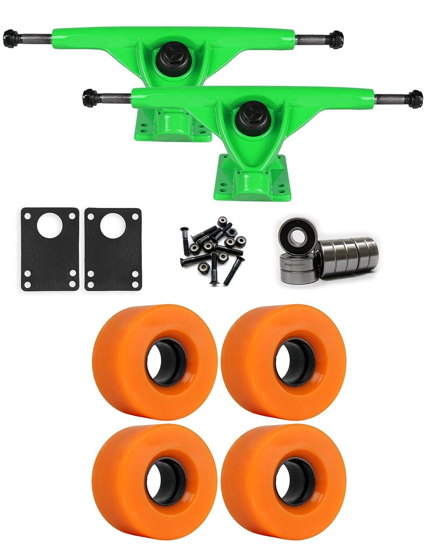 RKPグリーンLongboard Trucksホイールパッケージ56 mm x 31 mm 83 a 811 Cオレンジ   B01IJ8J0EG