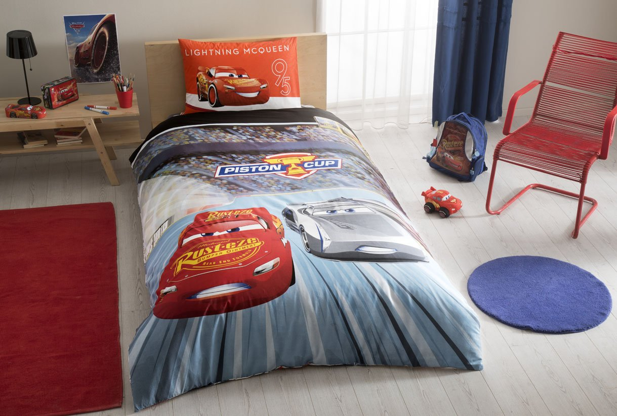 %100 Cotton Disney Car's 3 Kid's Duvet/Quilt Cover Set Single / Twin Size Kids Bedding