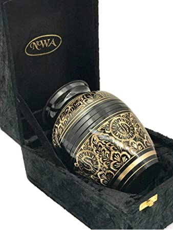 NWA Funeral Cremation Urn, Pet or Human Memorial Ash Urn with Gift Box- 7 Medium Size