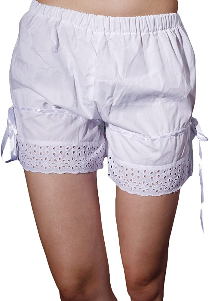 Antaina White Cotton Victorian Lace Ruffles Lolita Maid Pumpkin Shorts Bloomers