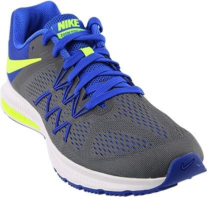 Nike Zoom Winflo 3, Zapatillas de Running para hombre, Gris (Dark Grey / Volt-Racer Blue-White), 42 1/2 EU: Amazon.es: Zapatos y complementos