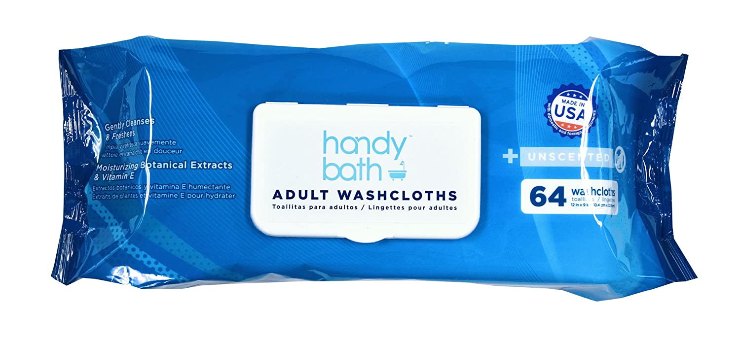 Amazon.com: Handybath Incontinence Adult Washcloths unscented for Senior Care Outdoor activities - Extra Large 12 x 9