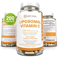 DACHA Nutrition Natural Liposomal Vitamin C - Immune System & Collagen Booster, High Absorption Fat Soluble VIT C…