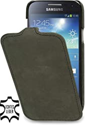 StilGut UltraSlim Case, custodia in pelle per Samsung Galaxy S4 Mini (i9195)
