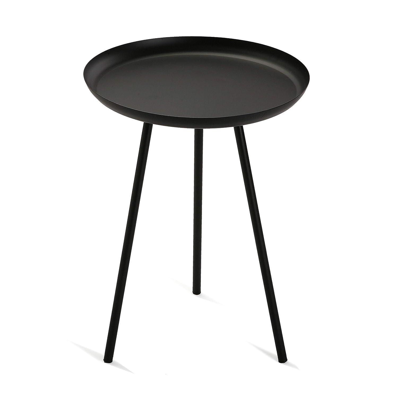 38 cm Versa 10850131 Mesa Auxiliar de Metal Negro