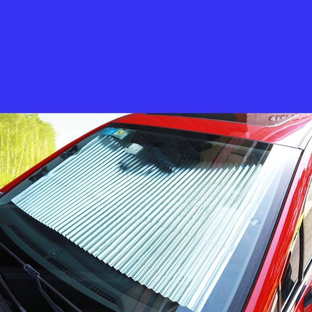 Leoboone Pare-brise r/étractable automatique Plus taille t/élescopique voiture pare-soleil avant pare-soleil /ét/é arri/ère pare-brise auto emp/êcher la chaleur