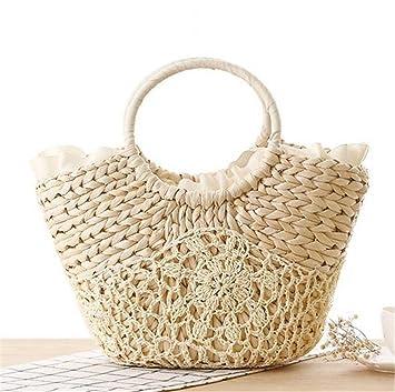 Bolsa De Playa Big Straw Totes Bag Bolsos De Viaje Hechos A ...