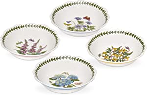 Portmeirion Botanic Garden Terrace Scalloped Edge Bowls Set of 4 (Assorted Flowers)