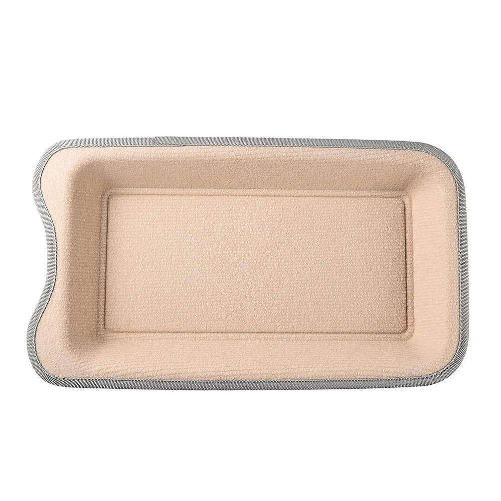 Petacc Cat Scratcher Funny Cat Bed Wear-proof Pet Scratching Toy with Catnip, Beige by Petacc (Image #3)