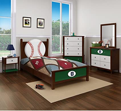 Detroit Tigers Bedroom In A Box Major League Baseball Furniture Amazon Co Uk Kitchen Home