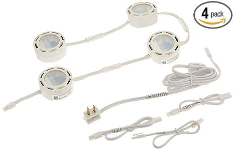 american lighting lvpx80wh 120 volt under cabinet xenon puck lighting kit 4 pack cabinet xenon lighting