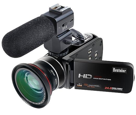 16 opinioni per Besteker Videocamera Digitale Portatile WiFi Videocamera Full HD 1080P 30FPS Con