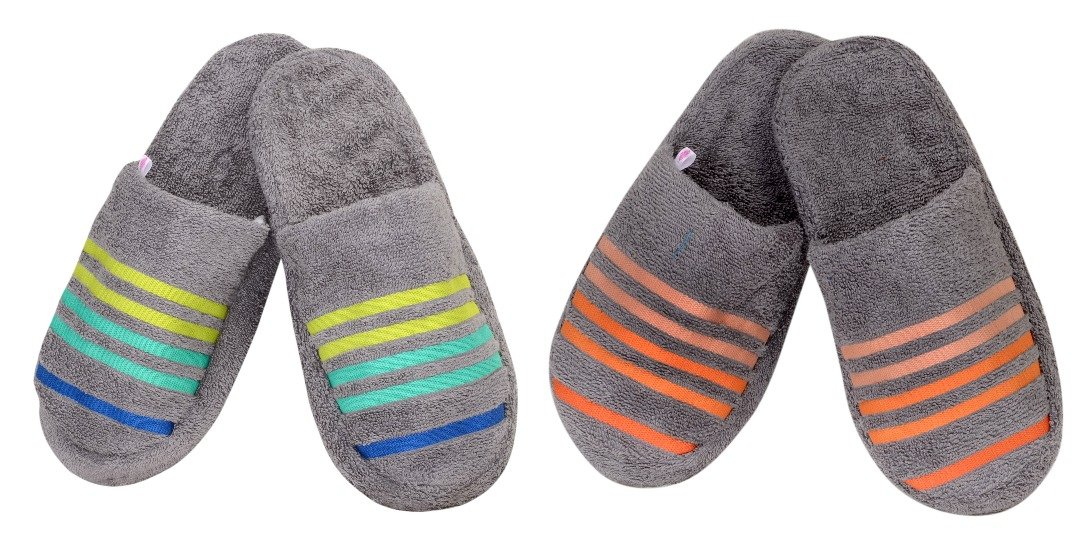 Buy Casa Copenhagen 2 Pcs Slipper Set Free Size - Steel Grey   Frost Grey  Online at Low Prices in India - Amazon.in 469601082