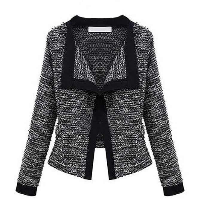 Demarkt - Modern - Chaqueta de punto para traje chaqueta tiempo libre Blazer abrigo negro large: Amazon.es: Ropa y accesorios