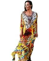 Kivaana Women's Kaftan Maxi Dress Lotus Maxi Dresses Honeymoon Dress Lace Kaftans Maxi Dress